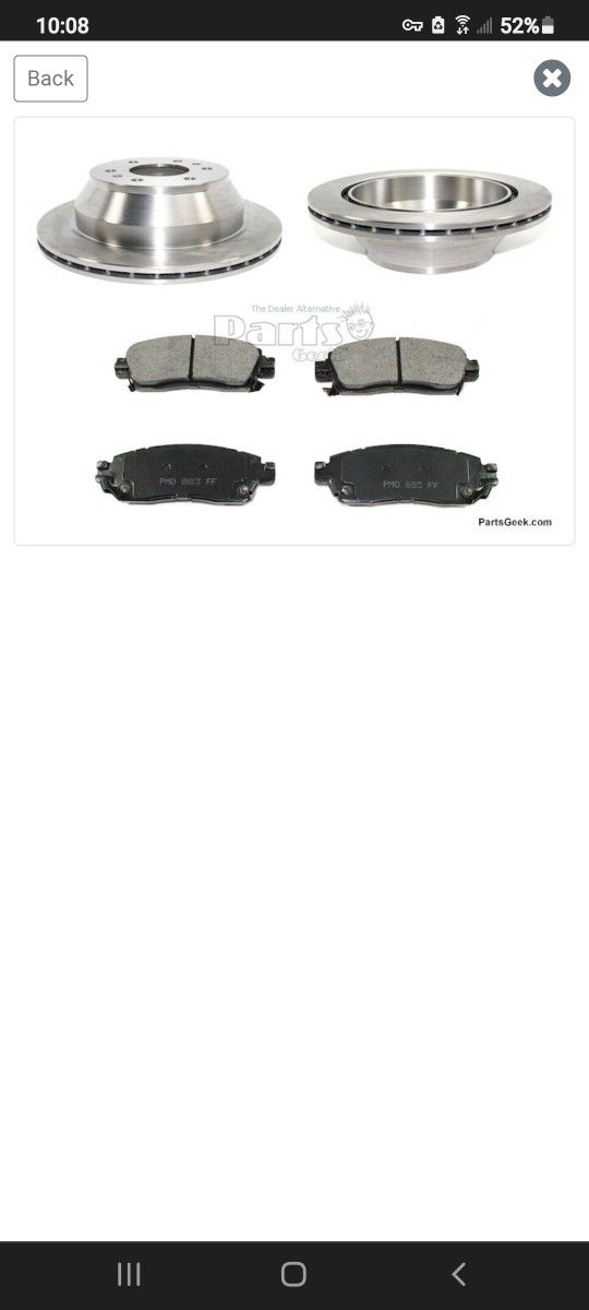 Rear Brakes For A 2004 Buick Rainer