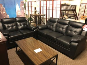 Leather Sofa And Love Seat Set We Offer No Credit Financing For In Sacramento