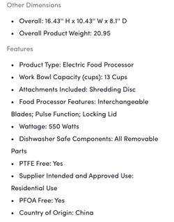 Cuisinart 13-cup Electric Food Processor Thumbnail
