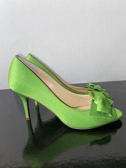 Nina Green Satin Bow Heels Thumbnail