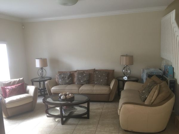 Living room set for sale: 3 couches, 2 side tables, 1 coffee table ...