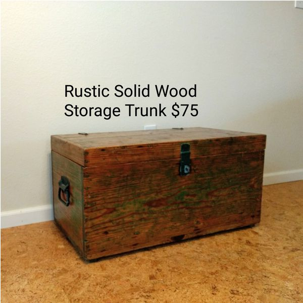 Rustic Solid Wood Storage Chest For In Corvallis Or Offerup