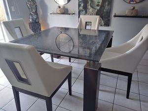 Dining table 4 chairs and buffet for sale  US