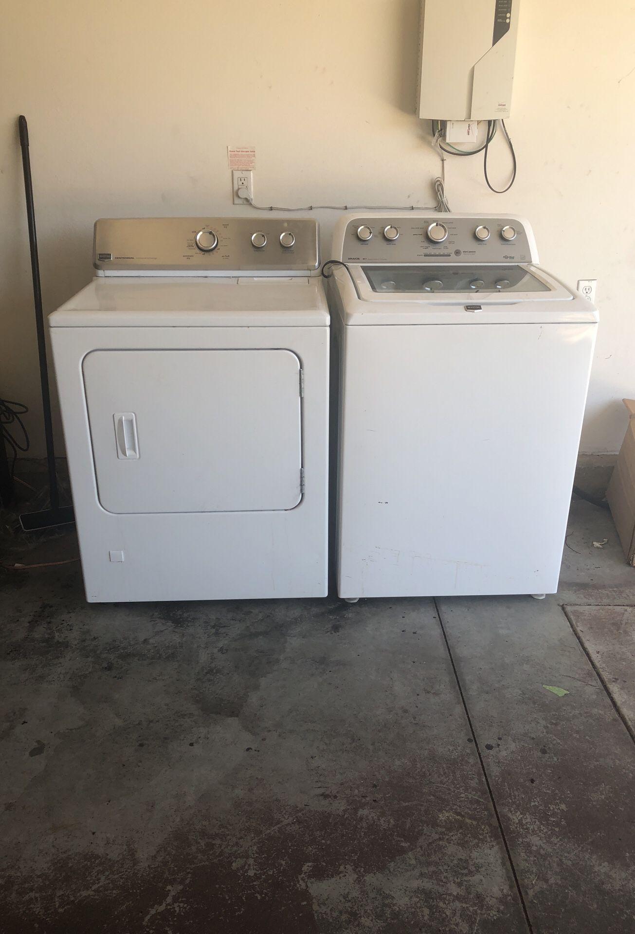 Maytag washermachine and dryer obo