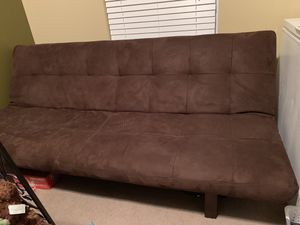 Brown Microsuede Futon for Sale in Raleigh, NC