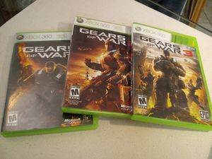 Photo Sale : (3) gears of war games Xbox 360 system / controller - TV