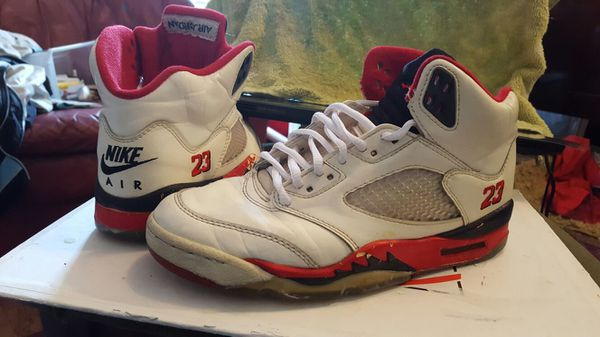 7f2a9237293f ORIGINAL 1990 NIKE Air Jordan 5 V FIRE REDS 23 D S 9.5 for Sale in ...
