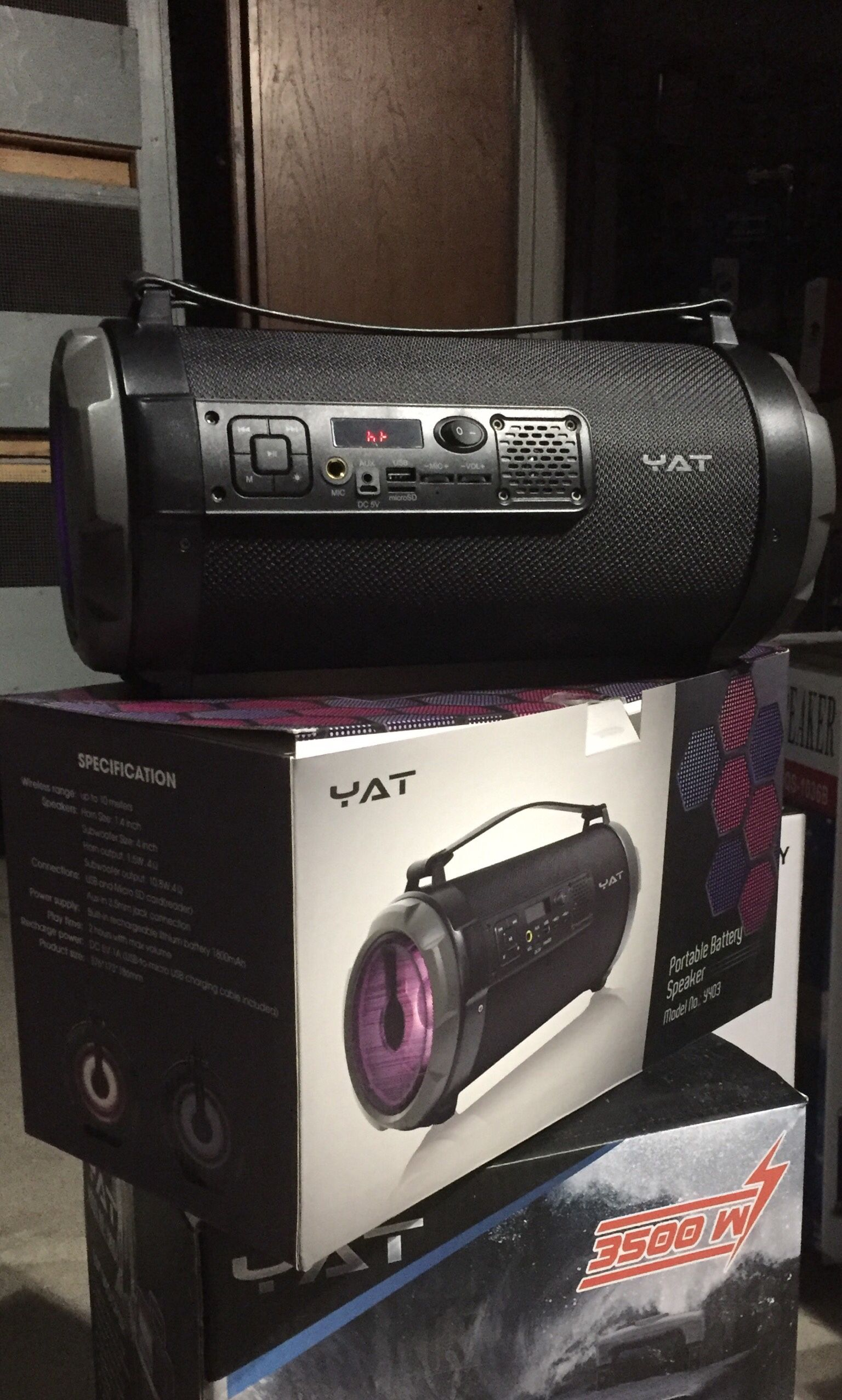 Bazooka Style Rechargeable Bluetooth Speaker/aux/Fm/USB And SD Port/many Styles Available/brand New !!