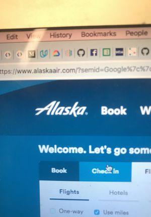 Alaska air travel voucher certificate points for Sale in Santa Monica, CA