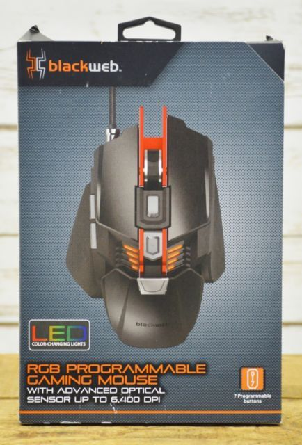 b396b70436f Blackweb BWA18HO003 RGB Programmable LED Gaming Mouse ! NEW!! for Sale in  Summerville, SC - OfferUp