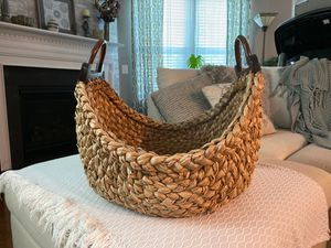 Photo Pottery Barn basket with handles