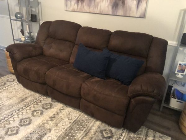 Brown Suede Reclining Sofa For Sale In Lakeland Fl Offerup