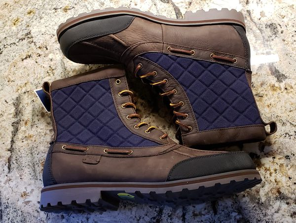 830e2ca6c6a NWT POLO Ralph Lauren Mens Boots Leather Lace up Sz 14D for Sale in ...