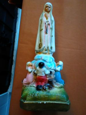 """Vintage Our Lady of Fatima Chalkware Statue 13"""" Tall Virgin Mary for Sale in Orlando, FL"""