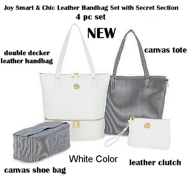 4ad8278aa91c New Joy Mangano 4pc Leather White Purse Set for Sale in Lanham