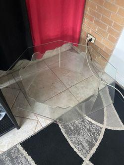 Glass Fish Octagon Table  Thumbnail