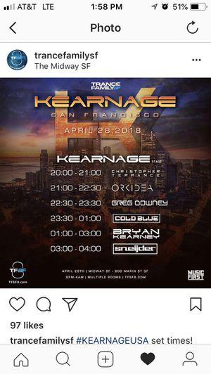 Kearnage APRIL 28 for Sale in San Francisco, CA