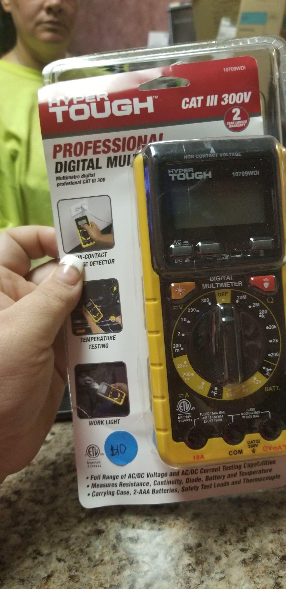 Hyper tough professional digital multimeter
