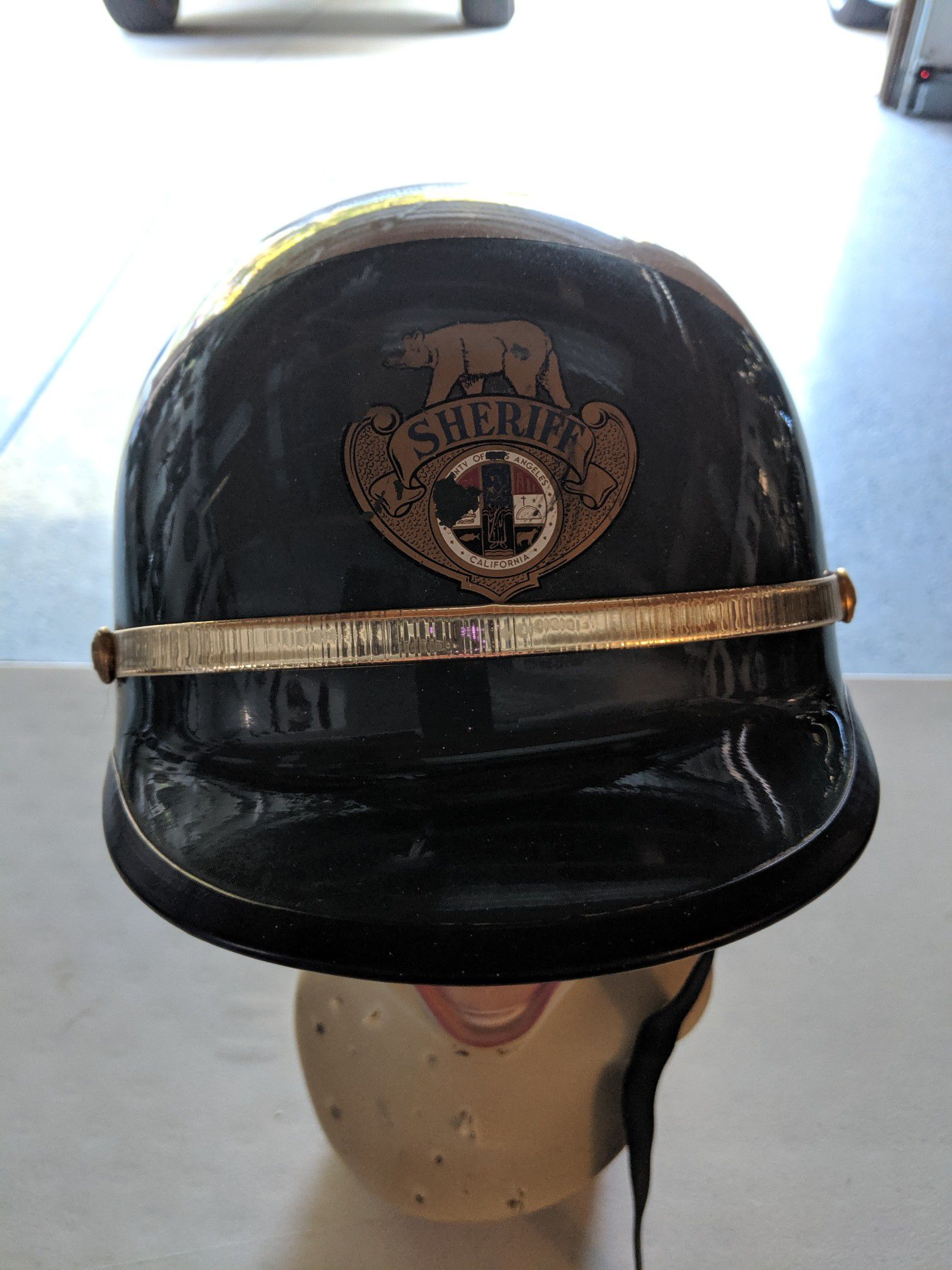 Vintage los Angeles sheriff helmet