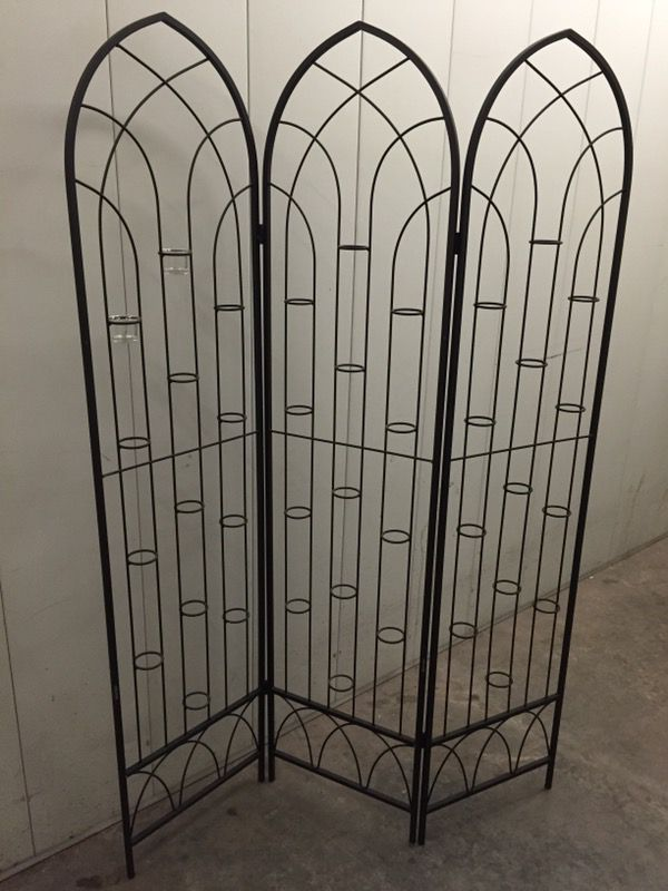 Metal screen room divider with votive holders for Sale in