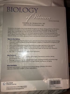 Biology of women 5th edition for Sale in Forest Heights, MD