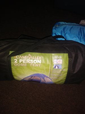 Photo I have two tents one to two man the other one I'm not too sure of