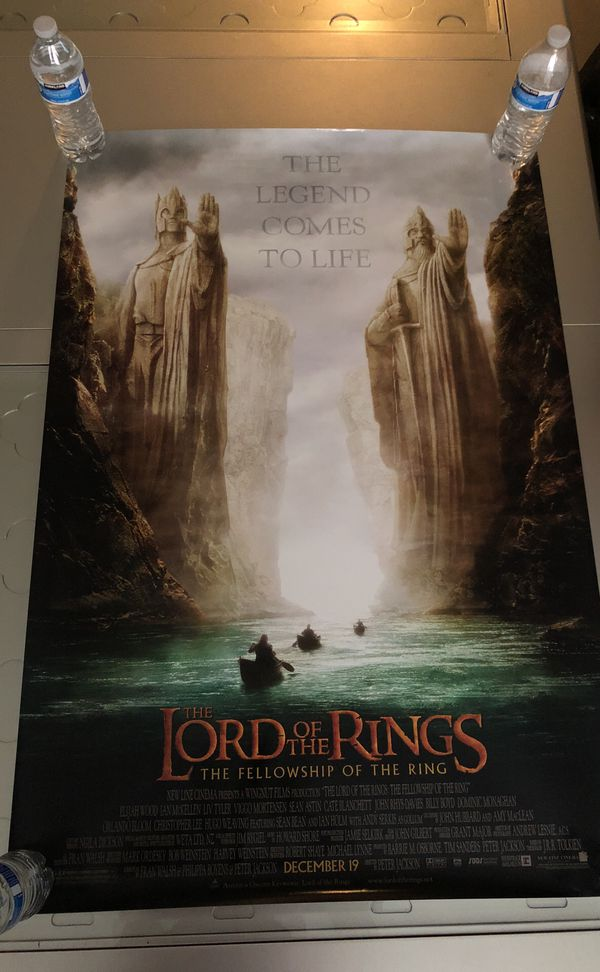 The Lord of the rings: Double-sided movie/theater poster for Sale in  Henderson, NV - OfferUp