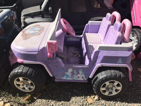 Power wheels Disney princess kids toddler ride along for Sale in ... a9b84bd6acb5