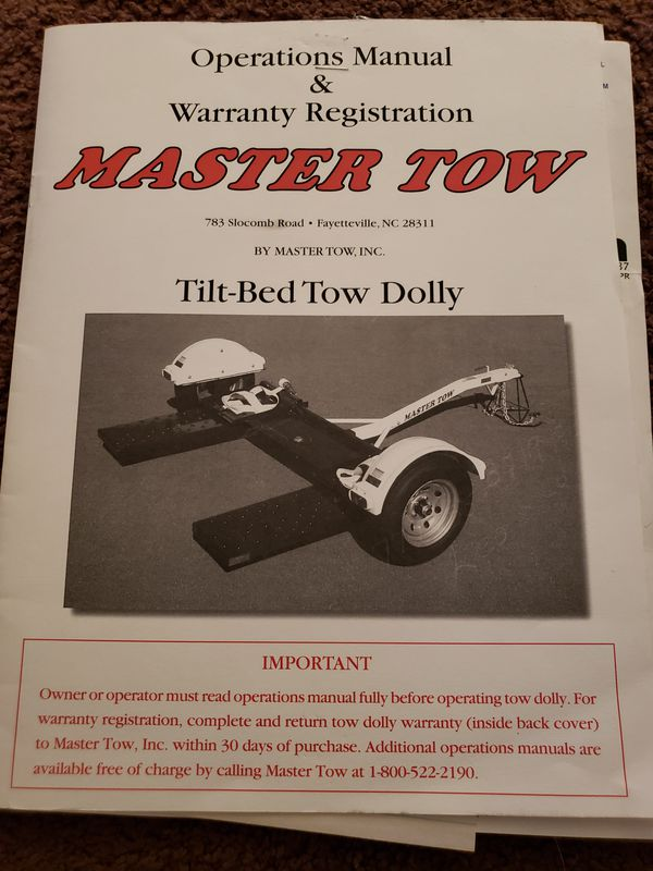 Master Tow Dolly For Sale In Hemet Ca Offerup