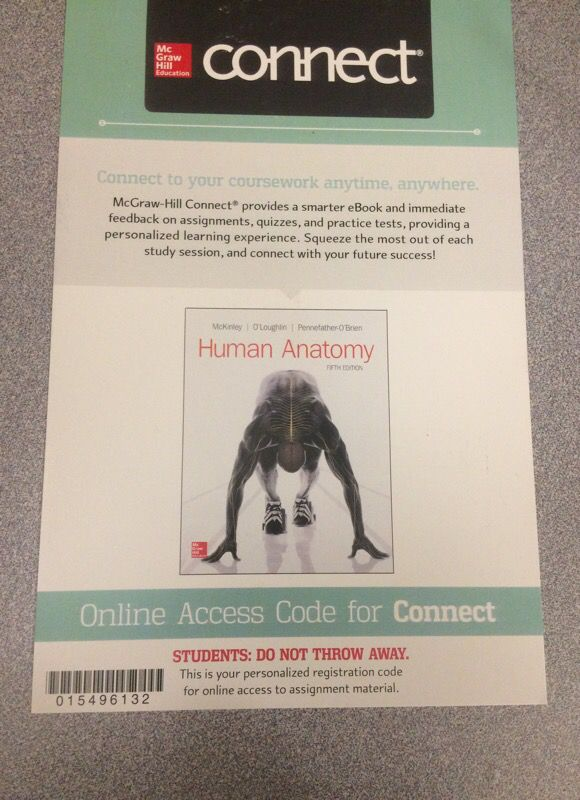 Human Anatomy Mckinley Connect Access Code For Sale In Lakewood Ca