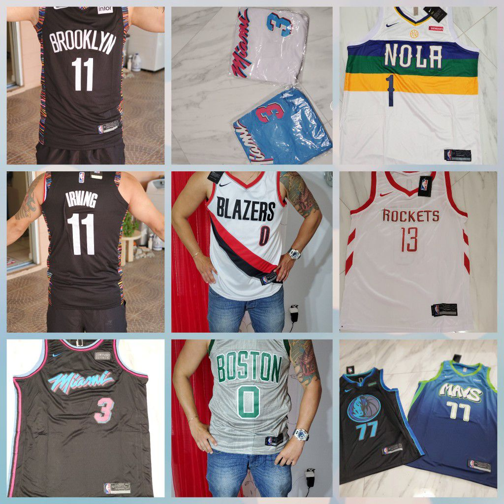 Jerseys stiches different teams