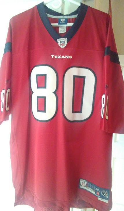 Houston Texans  80 Andre Johnson Jersey size 2XL (52) Reebok Adult 45046363d