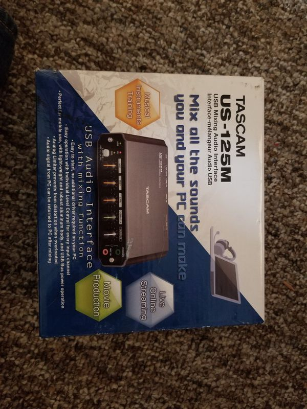 Tascam US-125M USB Audio Interface for Sale in Beachwood, NJ - OfferUp