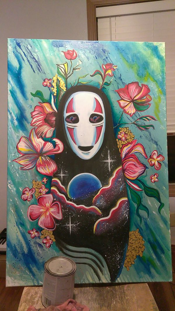 No Face Spirited Away Acrylic Painting For Sale In Houston Tx Offerup