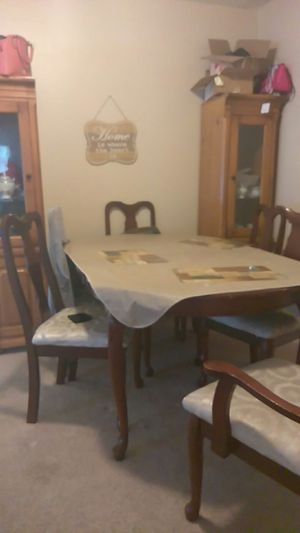 Dining Table To Hutches Six Chairs For In Merced Ca