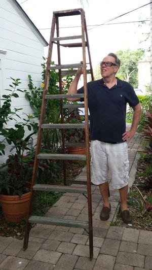 Vintage A Clark/Rid Jid 8ft. Ladder for Sale in Orlando, FL