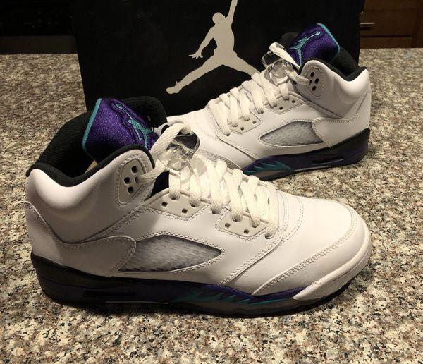 9fb8547ec98ba9 Nike Air Jordan Retro 5 Grape Boys 6.5 Retros Jordans V Grapes for ...