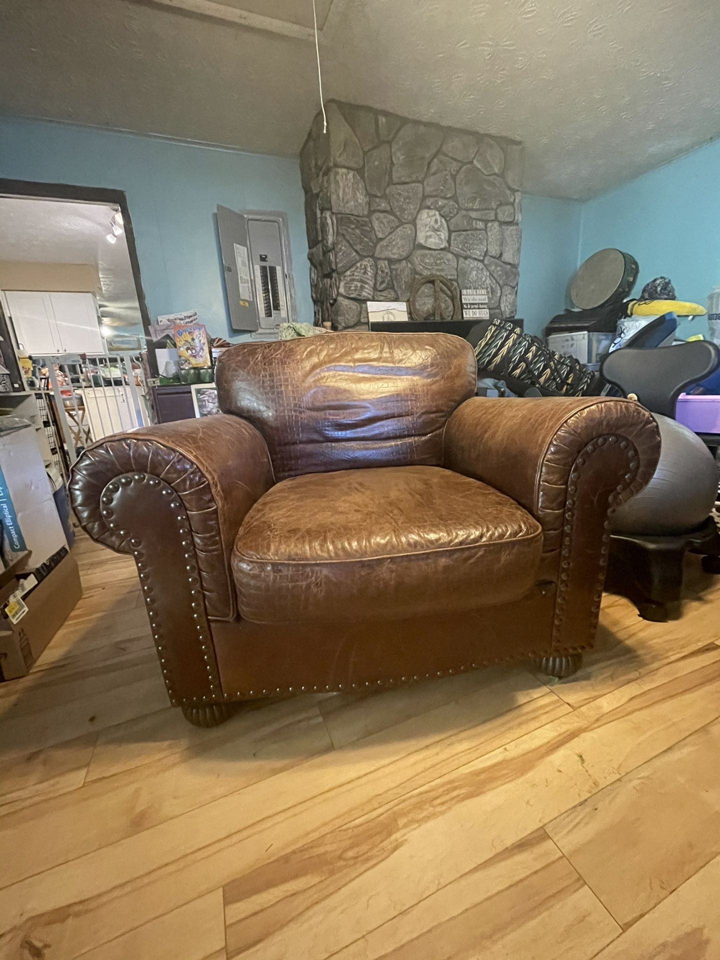Super Comfy Real Leather Chair