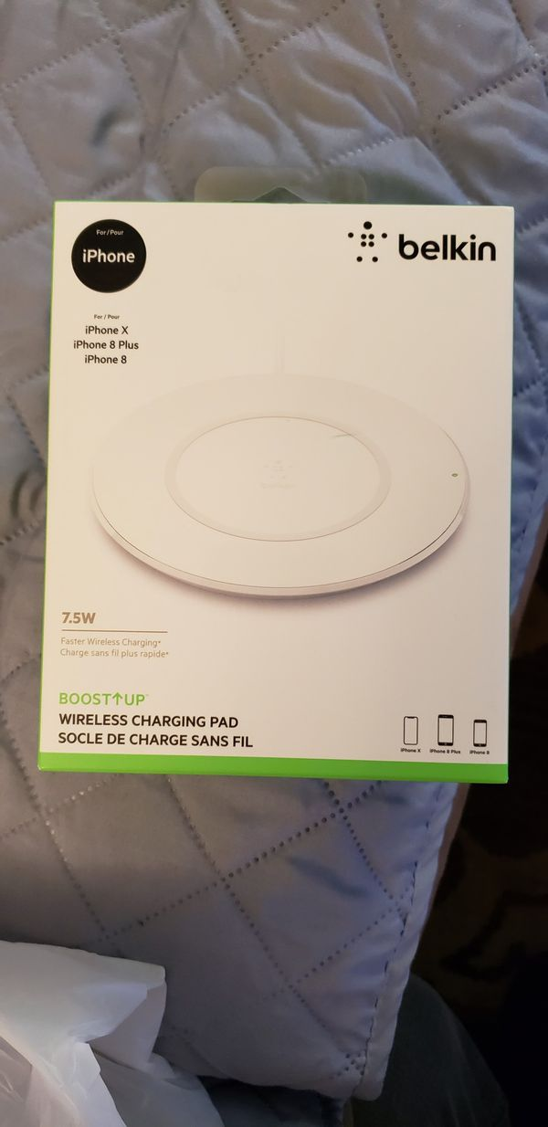 belkin boost up 7.5w qi wireless charging pad for iphone x