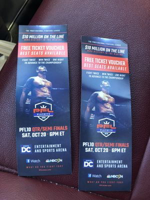 Professional Fighters League ticket vouchers for Sale in Alexandria, VA