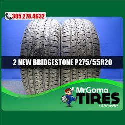 2 NEW 275/55/20 BRIDGESTONE DUELER H/L ALENZA M+S TIRES DODGE FORD 111S 2755520 Thumbnail