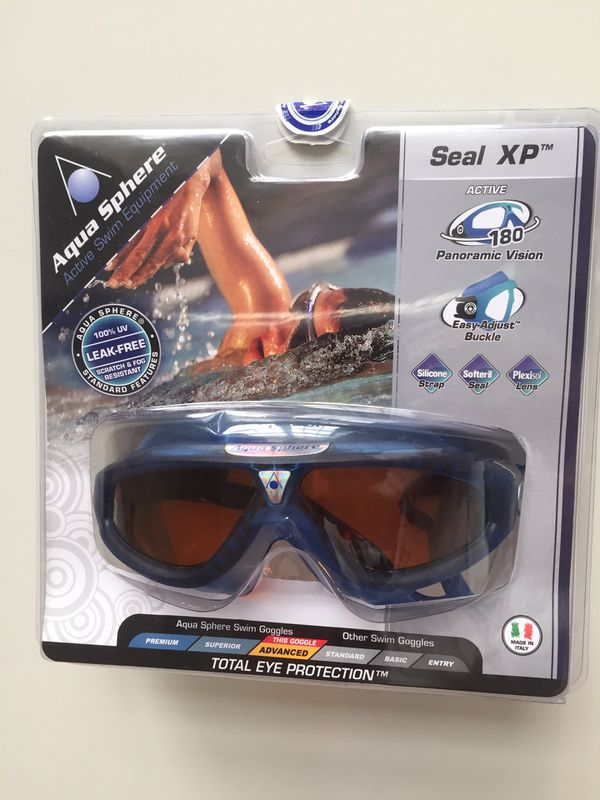 ac167d367e0 Aqua Sphere Seal XP Swim Mask. Made in Italy. Brand new. Still in original  packaging. * Durable wrap-around Plexisol lens for 180-degree visibility.