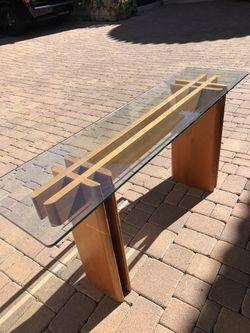 Copenhagen Teak Glass table Thumbnail