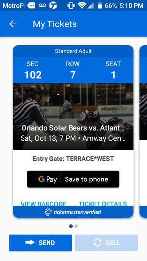 Ice hockey tickets for Sale in Orlando, FL