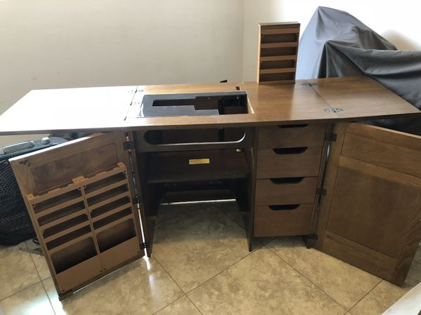 Parsons Sewing Cabinet w/ Electric Lift for Sale in ...
