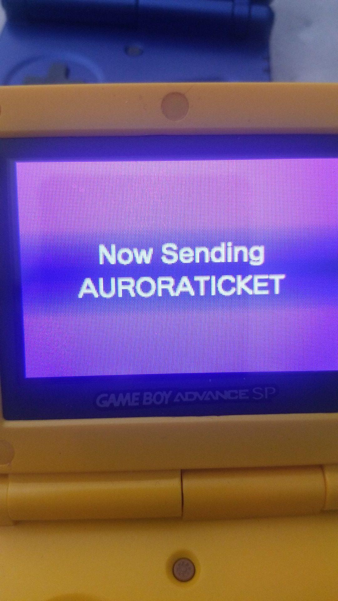 Aurora ticket gameboy advance