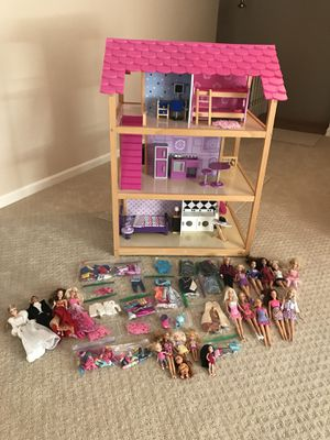 Kidkraft So Chic Wooden Dollhouse With 45 Pieces Of Furniture For Sale In Jacksonville Fl Offerup