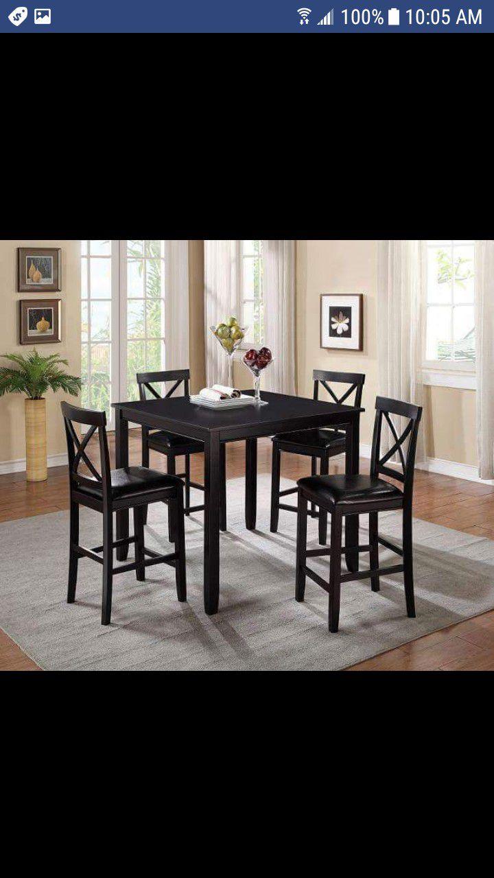 Brand New Espresso 5PCS Counter Height Dinning Set