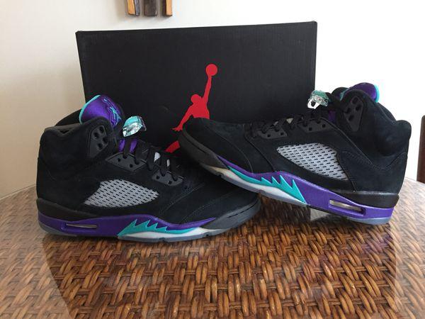 51fa65e54a9272 Nike Air Jordan retro 5 black grape sz 9.5 Ds for Sale in San ...