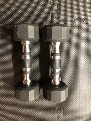 5 pound pair of rubber dumbbells for Sale in Bel Air, MD